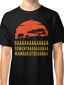 BAAAAAAAAAAAAA SOWENYAAAAAAAAAA MAMABEATSEBABAH African Sunrise Elephants Shirt Classic T-Shirt
