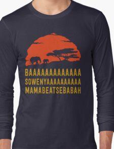 BAAAAAAAAAAAAA SOWENYAAAAAAAAAA MAMABEATSEBABAH African Sunrise Elephants Shirt Long Sleeve T-Shirt