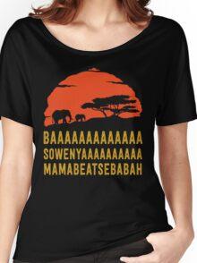 BAAAAAAAAAAAAA SOWENYAAAAAAAAAA MAMABEATSEBABAH African Sunrise Elephants Shirt Women's Relaxed Fit T-Shirt