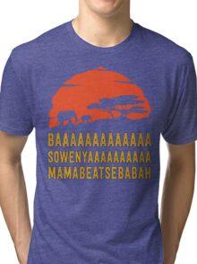 BAAAAAAAAAAAAA SOWENYAAAAAAAAAA MAMABEATSEBABAH African Sunrise Elephants Shirt Tri-blend T-Shirt
