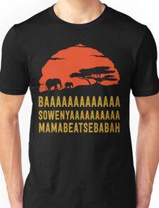 BAAAAAAAAAAAAA SOWENYAAAAAAAAAA MAMABEATSEBABAH African Sunrise Elephants Shirt Unisex T-Shirt