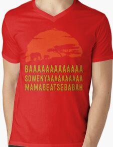 BAAAAAAAAAAAAA SOWENYAAAAAAAAAA MAMABEATSEBABAH African Sunrise Elephants Shirt Mens V-Neck T-Shirt