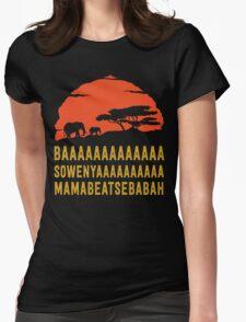 BAAAAAAAAAAAAA SOWENYAAAAAAAAAA MAMABEATSEBABAH African Sunrise Elephants Shirt Womens Fitted T-Shirt