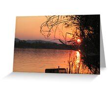 Sunset at Crossing Falls near Kununurra, Western Australia Greeting Card