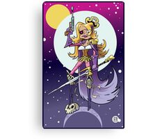 Space Pirate Queen Canvas Print