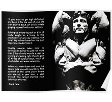 Frank Zane Bodybuilding Advice Poster