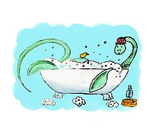 Plesiosaur in the bath Photographic Print