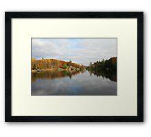Trout Lake In Omega Park Framed Print