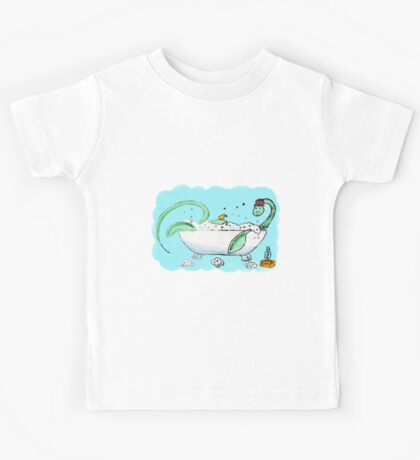 Plesiosaur in the bath Kids Tee