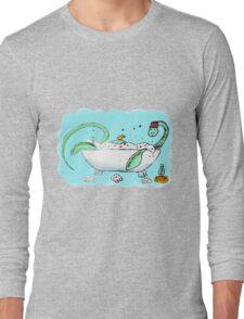 Plesiosaur in the bath Long Sleeve T-Shirt