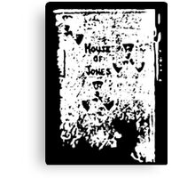 The House of Jones - white on black Canvas Print