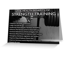 The Health Benefits of Strength Training Greeting Card