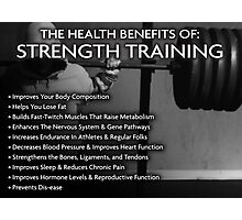 The Health Benefits of Strength Training Photographic Print