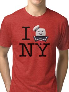Ghostbusters - I Stay Puft New York Tri-blend T-Shirt