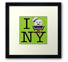 Ghostbusters - I Stay Puft New York Framed Print
