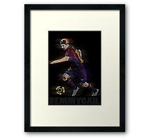 Lionel Messi FIFA Football Soccer Poster Typography Art Framed Print