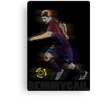 Lionel Messi FIFA Football Soccer Poster Typography Art Canvas Print