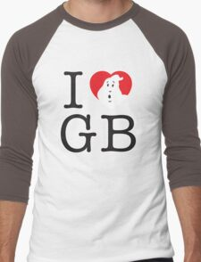 I <3 GB Men's Baseball ¾ T-Shirt