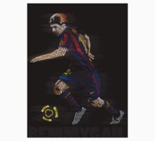Lionel Messi FIFA Football Soccer Poster Typography Art Kids Clothes
