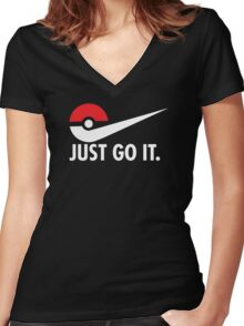 Just Go It! Women's Fitted V-Neck T-Shirt