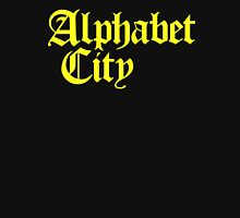 Alphabet City NYC Gothic (Yellow Print) Unisex T-Shirt
