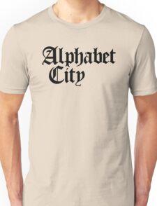 Alphabet City NYC Gothic (Black Print) Unisex T-Shirt