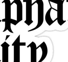 Alphabet City NYC Gothic (Black Print) Sticker