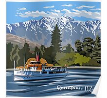Queenstown, Remarkables and Earnslaw, NZ Poster