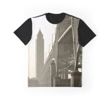 View On Fire Island Inlet Bridge And Water Tower   Gilgo-Oak Beach-Captree, New York  Graphic T-Shirt