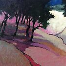 Landscape with trees by Roz McQuillan
