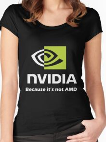 NVIDIA, because it's not AMD White Women's Fitted Scoop T-Shirt