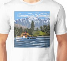 Queenstown, Remarkables and Earnslaw, NZ Unisex T-Shirt