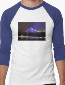Blue Glow Men's Baseball ¾ T-Shirt