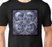 Celtic Hearts Tapestry in Silver and Purple Unisex T-Shirt