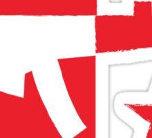 Red computer gamer digital machine gun Sticker