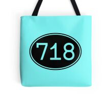 Area Code 718 (Black Print) Tote Bag