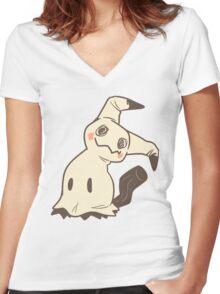 Pastel Mimikyu Women's Fitted V-Neck T-Shirt