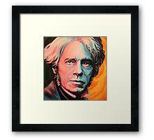 """Magnetic Moment"" Portrait of Michael Faraday Framed Print"