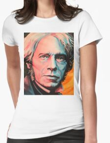 """""""Magnetic Moment"""" Portrait of Michael Faraday Womens Fitted T-Shirt"""