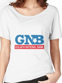 """HIMYM """"Goliath National Bank"""" Women's Relaxed Fit T-Shirt"""