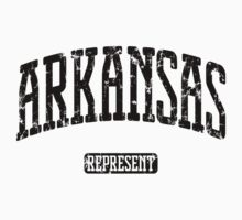 Arkansas Represent (Black Print) Kids Clothes