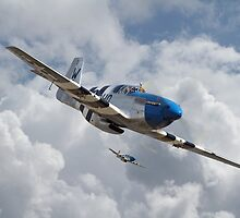 P51 Mustang - D-Day Top Cover by Pat Speirs