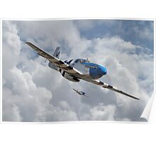 P51 Mustang - D-Day Top Cover Poster