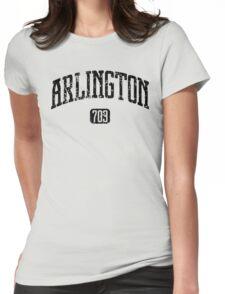 Arlington 703 (Black Print) Womens Fitted T-Shirt