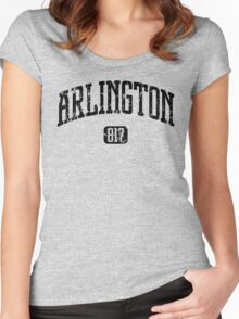 Arlington 817 (Black Print) Women's Fitted Scoop T-Shirt