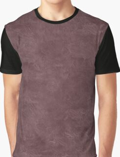 Deep Mahogany Oil Pastel Color Accent Graphic T-Shirt