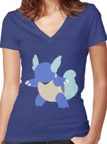 Kanto Starters - Wartortle Women's Fitted V-Neck T-Shirt