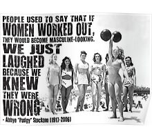 Women Lifting Weights Poster