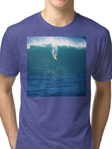 Crazy Day at Waimea Bay Tri-blend T-Shirt