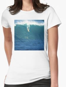 Crazy Day at Waimea Bay Womens Fitted T-Shirt